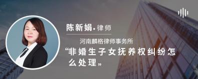 非婚生子女抚养权纠纷怎么处理-陈新娟律师
