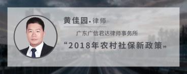 2018年农村社保新政策