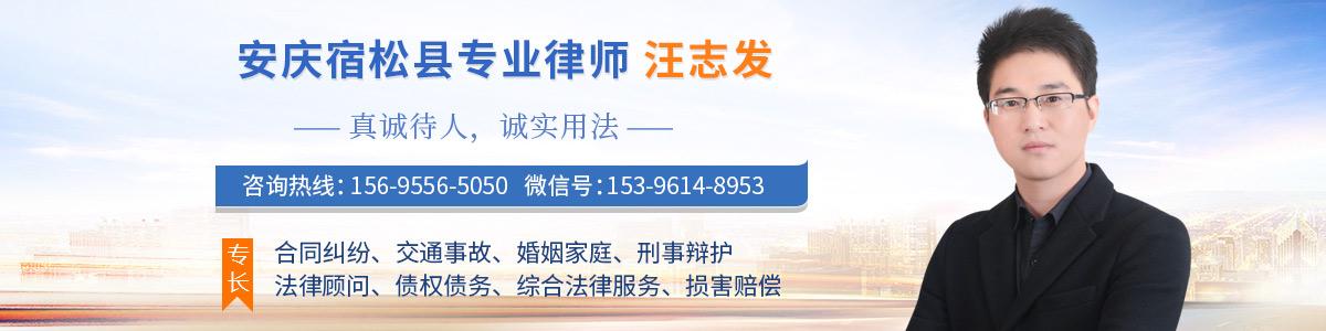 宿松县汪志发律师