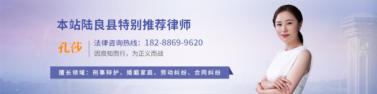 陆良县孔莎律师