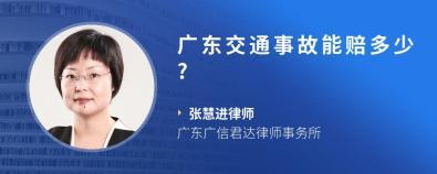 广东交通事故能赔多少?-张慧进律师
