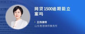 网贷1500逾期能立案吗