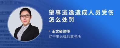 肇事逃逸造成人员受伤怎么处罚-王文郁律师